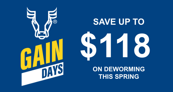 SAVE UP TO $118 ON DEWORMING